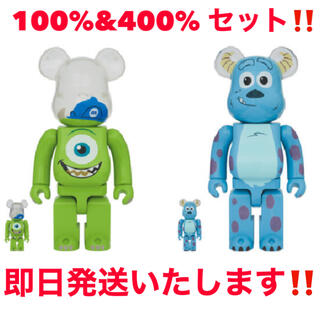 MEDICOM TOY - 新品未開封BE@RBRICK SULLEY&MIKE 100%&400%セット!