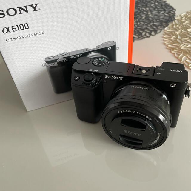 SONY(ソニー)のSONY ミラーレス一眼カメラ α6100 ほぼ未使用 ソニー スマホ/家電/カメラのカメラ(ミラーレス一眼)の商品写真