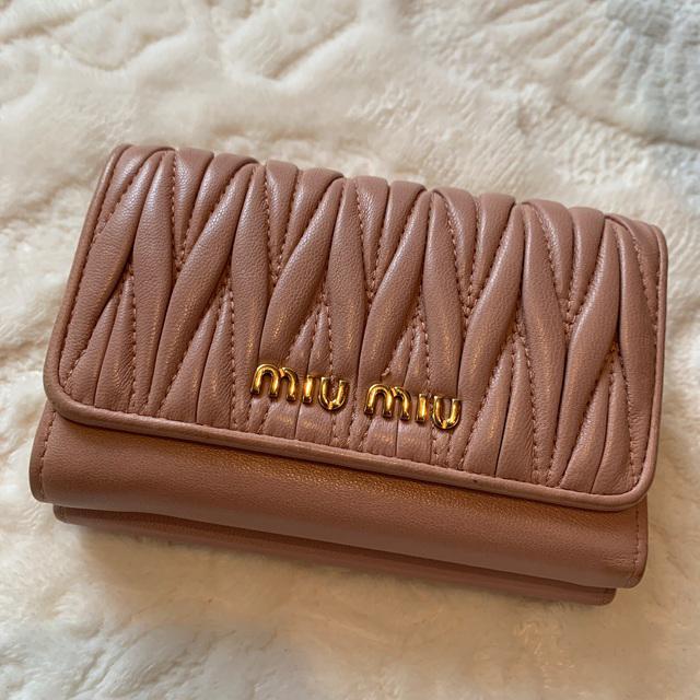miumiu(ミュウミュウ)のmiumiu お財布 ピンク がま口 レディースのファッション小物(財布)の商品写真
