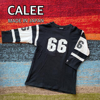 CALEE キャリー フットボール Tシャツ 日本製