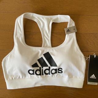 adidas - 新品 adidas アディダス スポーツブラ スポブラ ウェア 白 L