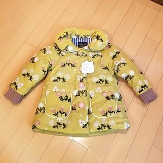 F.O.KIDS - アプレレクール ジャケット 上着 ダウン コート 小花柄 マスタード