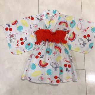 ディズニー(Disney)のミニーちゃん 浴衣 80(甚平/浴衣)