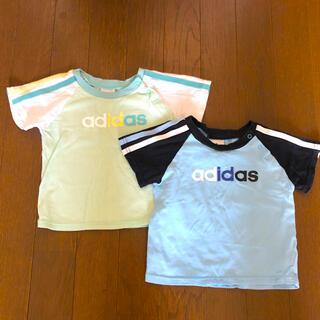 アディダス(adidas)のadidas アディダス半袖Tシャツ2枚組 80(Tシャツ)