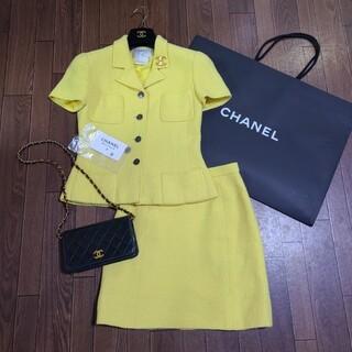 CHANEL - ヴィンテージ CHANEL シャネル サマーツイード スーツ