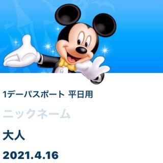Disney - ディズニーランド 4月16日入園済チケット グッズ購入用
