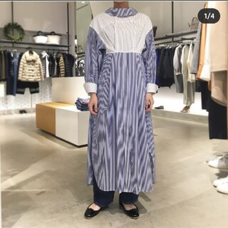 ENFOLD - ENFOLD シャツドレス ホワイト無地 36サイズ