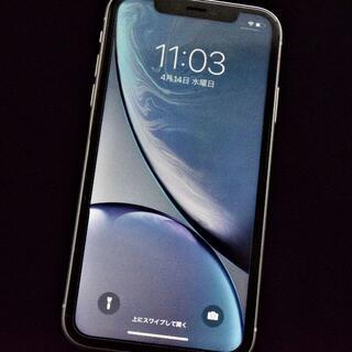 iPhone - iPhone XR 64GB SIMロック解除 Apple ホワイト 訳アリ