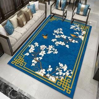新しいチャイニーズスタイルのレトロなリビングルームのベッドルームカーペット