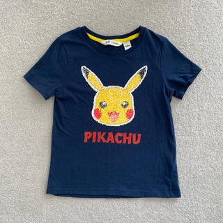 H&H - ポケモン☆ピカチュウ☆スパンコール!Tシャツ!H&M!