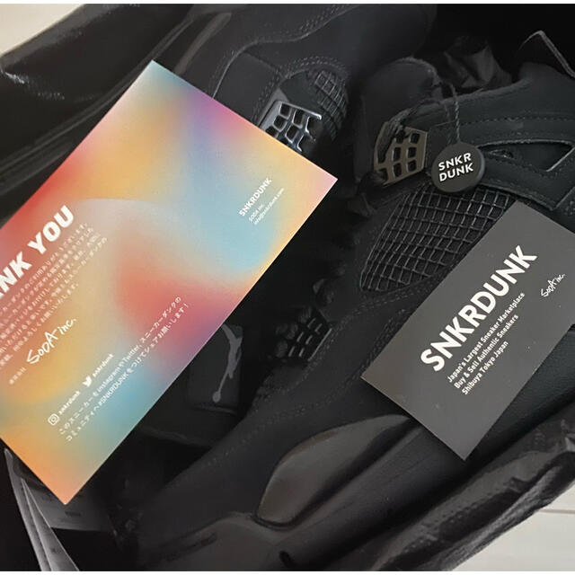 "NIKE(ナイキ)のNIKE AIR JORDAN 4 ""BLACK CAT"" メンズの靴/シューズ(スニーカー)の商品写真"