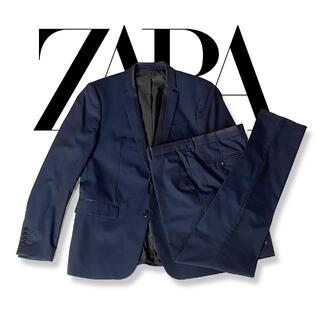 ザラ(ZARA)のZARA ザラ セットアップ スーツ ネイビー ジャケット パンツ(セットアップ)
