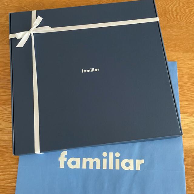 familiar(ファミリア)のプレゼント包装 ファミリア familiar レッスンバッグ デニム お祝い キッズ/ベビー/マタニティのこども用バッグ(レッスンバッグ)の商品写真