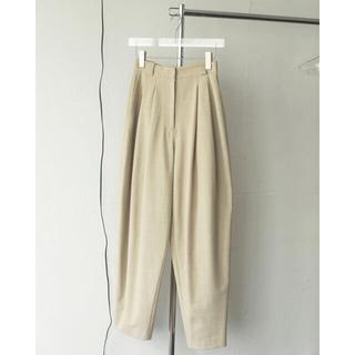 TODAYFUL - 大人気 Highwaist Tuck Trousers ナチュラル 36