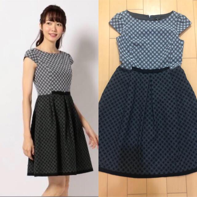 TOCCA(トッカ)のトッカ WEB限定カラーCRYSTAL ドレス 刺繍 ワンピース レッド 0 レディースのワンピース(ひざ丈ワンピース)の商品写真