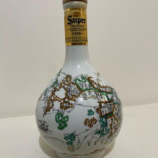 サントリー - ニッカ 九州古地図 有田焼 600ml   未開栓  ウイスキー