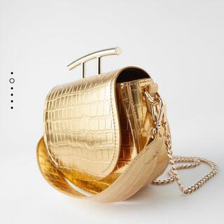 ZARA - Zara ザラゴールドアニマル柄 3way ショルダーバッグハンドバッグ