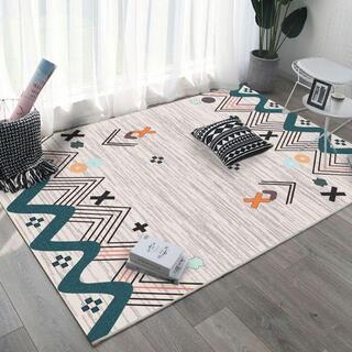 北欧のリビングルームの幾何学的なモダンなミニマリストカーペット