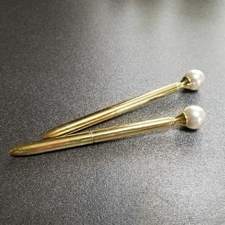 フランフラン(Francfranc)のパール ゴールド ボールペン 2本(ペン/マーカー)