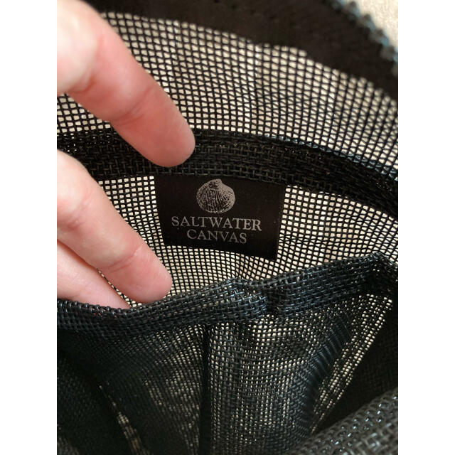 BEAMS BOY(ビームスボーイ)のBEAMS BOY購入 SALTWATER CANVAS ハンドバック 黒 レディースのバッグ(ハンドバッグ)の商品写真