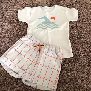 こども ビームス - タイニーコットンズ  Tシャツ短パンセット2y
