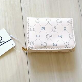 ミッフィー ロゴ 白 折り財布
