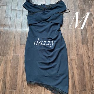 dazzy store - 美品 デイジー キャバドレス M ネイビー レース アシンメトリー