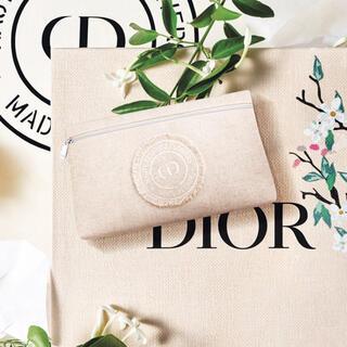 ディオール(Dior)のディオール Christian Dior ノベルティ ビック ポーチ ベージュ(ポーチ)