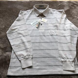 新品未使用 シルク混夏用長袖ポロシャツ 日本製(ポロシャツ)