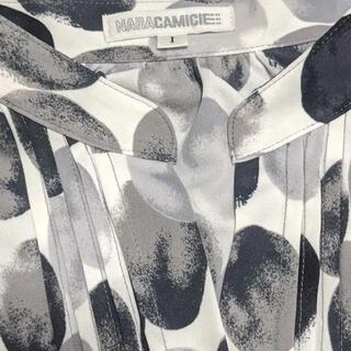 NARACAMICIE - NARACAMICIE グラデーションドットプリント半袖カットソーシャツ