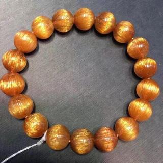⭐︎天然銅色ゴールドルチルクオーツ ブレスレット 11.8mm(ブレスレット/バングル)