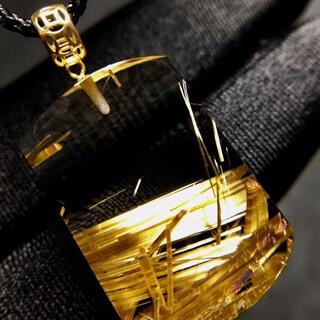 ⭐︎【天然】タイチンルチルクオーツ  ペンダントトップ k18 8g(ネックレス)