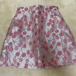 lilLilly - 新品タグ付きリルリリー チェリージャガードスカート ピンク