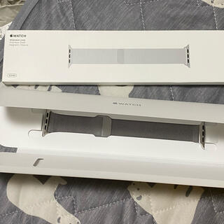 Apple Watch - Apple Watch 42/44mm用 純正バンド ミラネーゼループ シルバー