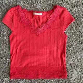 ロイヤルパーティー(ROYAL PARTY)のロイヤルパーティー コーラルピンク Tシャツ(Tシャツ(半袖/袖なし))