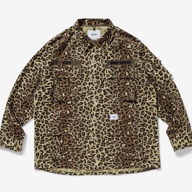 W)taps(ダブルタップス)の21SS wtaps JUNGLE 01 LS LEOPARD beige S メンズのジャケット/アウター(ミリタリージャケット)の商品写真