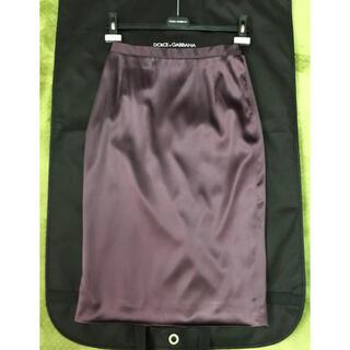 ドルチェアンドガッバーナ(DOLCE&GABBANA)のDolce&Gabbana 最高級 シルク 裏側レオパード スカート(ひざ丈スカート)