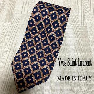 イヴサンローランボーテ(Yves Saint Laurent Beaute)のYves Saint Laurent イヴサンローラン ハート柄 ネクタイ(ネクタイ)
