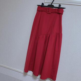 マーキュリーデュオ(MERCURYDUO)のマーキュリーデュオ アシンメトリー切替スカート(ロングスカート)