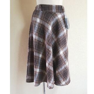 セシルマクビー(CECIL McBEE)のCECIL McBEE チェック フレアスカート(ひざ丈スカート)