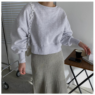 TODAYFUL - willfully short cropped 2way sweat