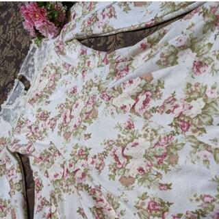 リズリサ(LIZ LISA)のリズリサ❤新品❤可愛らしい❤花柄❤襟❤花柄チュール❤激可愛フリフリ❤ワンピース(ミニワンピース)