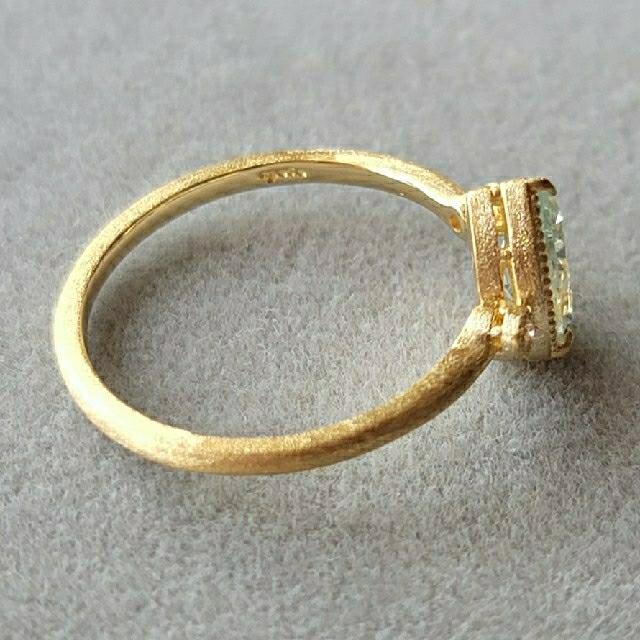 agete(アガット)のagete K10 リング アクアマリン SAO レディースのアクセサリー(リング(指輪))の商品写真