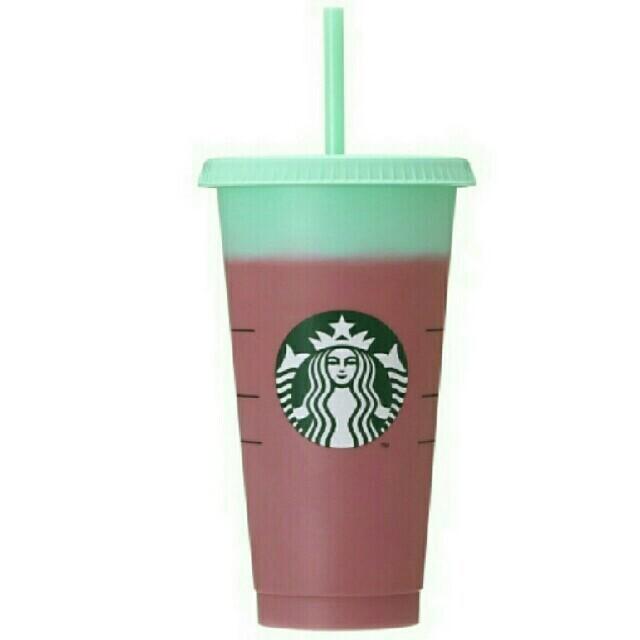 Starbucks Coffee(スターバックスコーヒー)の日本上陸! スターバックス カラーチェンジングリユーザブルコールドカップ インテリア/住まい/日用品のキッチン/食器(タンブラー)の商品写真