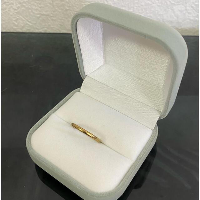 サージカルステンレス(K18鍍金)リング(16号) メンズのアクセサリー(リング(指輪))の商品写真