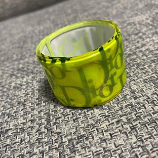 Christian Dior - H ディオール バングル ブレスレット トロッター リストバンド  黄色 ロゴ