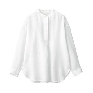 MUJI (無印良品) - 無印良品 フレンチリネン 洗いざらしチュニック  婦人M~L