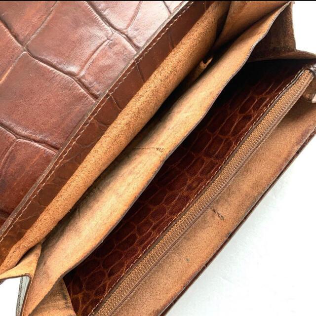 IL BISONTE(イルビゾンテ)のイルビゾンテ IL BISONTE ロングウォレット クロコ型押し 長財布 メンズのファッション小物(長財布)の商品写真