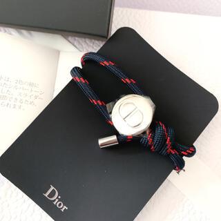 ディオール(Dior)のディオール ノベルティ オム ブレスレット アンクレットネイビー レッド(ブレスレット/バングル)