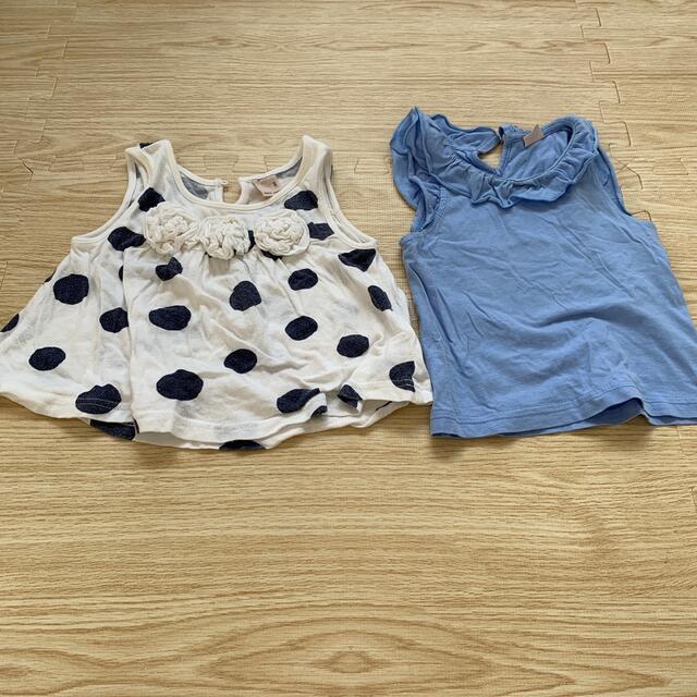 petit main(プティマイン)のプティマイン トップス 2枚セット キッズ/ベビー/マタニティのベビー服(~85cm)(Tシャツ)の商品写真